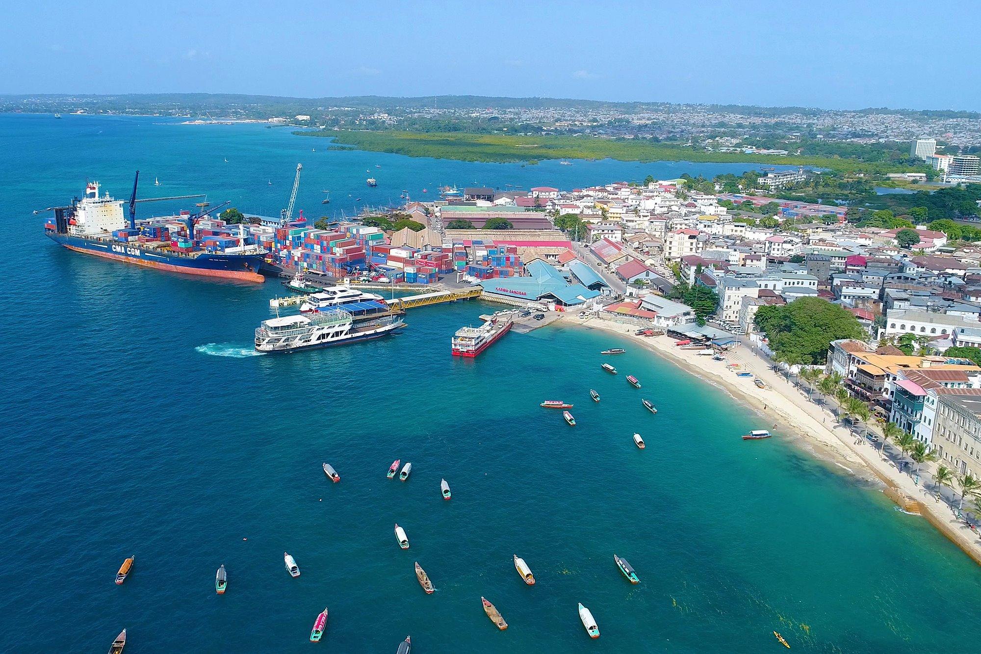 Aerial View Stone Town Zanzibar